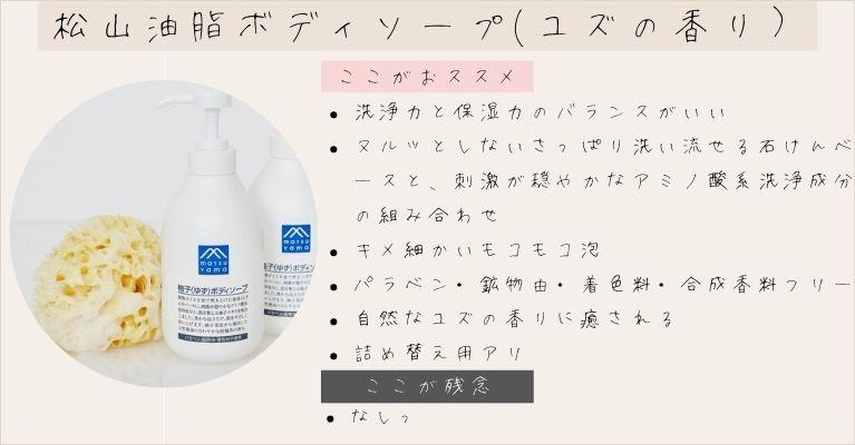 松山油脂ボディソープ(柚子)の紹介